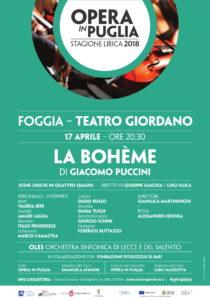 LA BOHEME FOGGIA @ Teatro Umberto Giordano | Foggia | Puglia | Italia