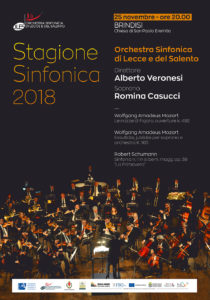 Stagione Sinfonica 2018 - Brindisi @ Chiesa di San Paolo Eremita   Brindisi   Puglia   Italia